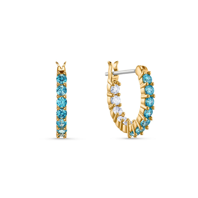 vittore-hoop-pierced-earrings-aqua-gold-tone-plated