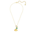 Load image into Gallery viewer, stunning-ginko-necklace-green-gold-tone-plated