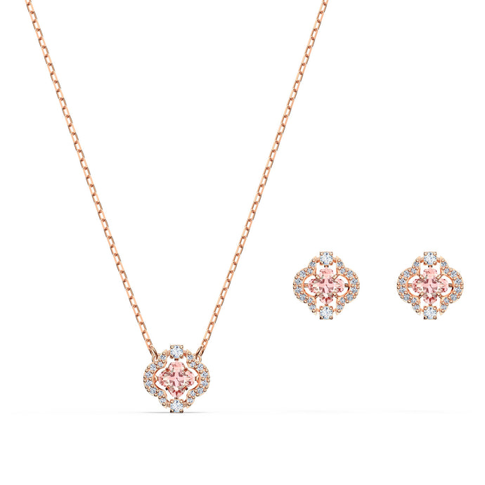 swarovski-sparkling-dance-clover-set-pink-rose-gold-tone-plated