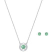 Load image into Gallery viewer, sparkling-dance-set-green-rhodium-plated