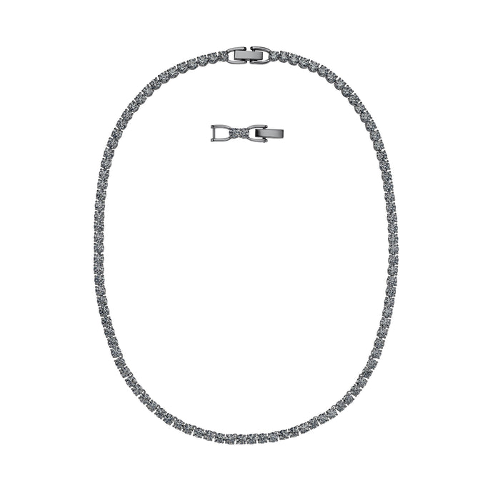 tennis-deluxe-necklace-gray-ruthenium-plated