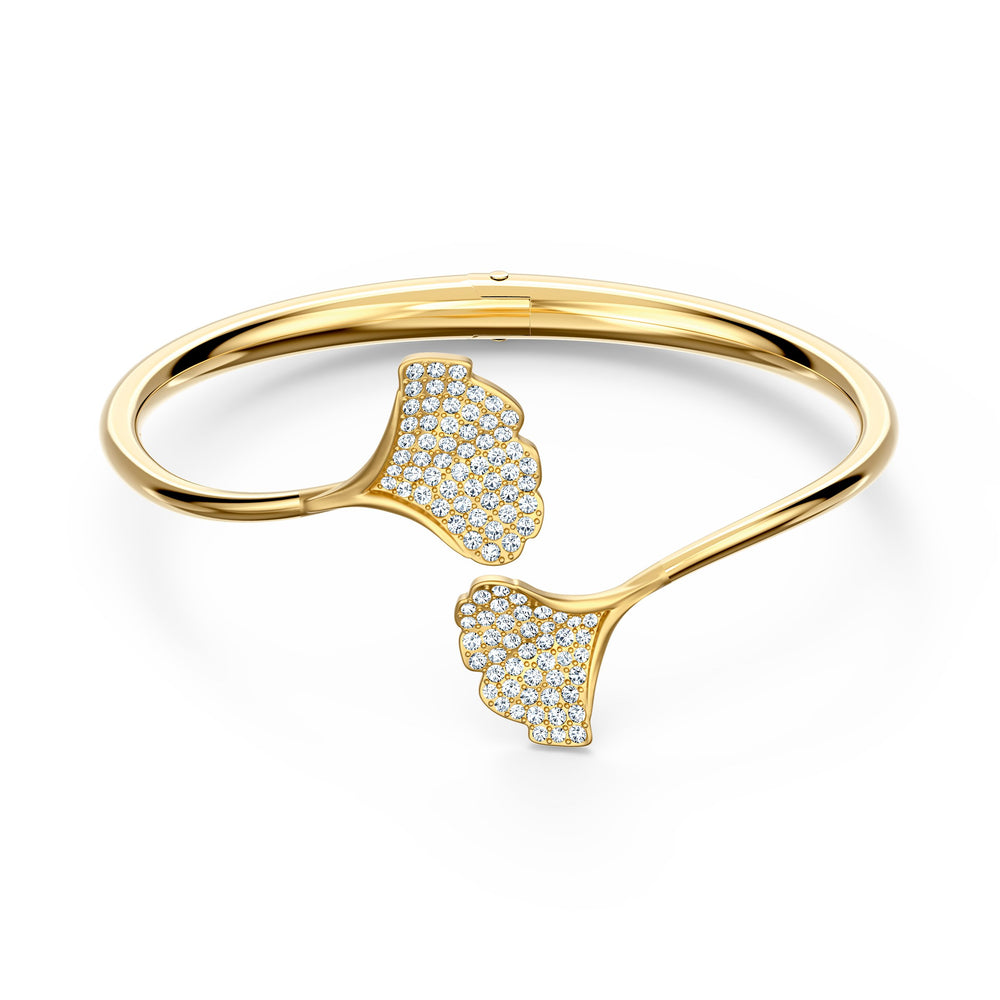 stunning-ginko-bangle-white-gold-tone-plated