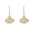 Load image into Gallery viewer, stunning-ginko-pierced-earrings-white-gold-tone-plated