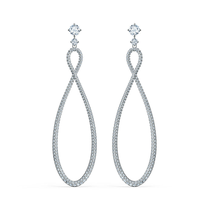 swarovski-infinity-hoop-pierced-earrings-white-rhodium-plated