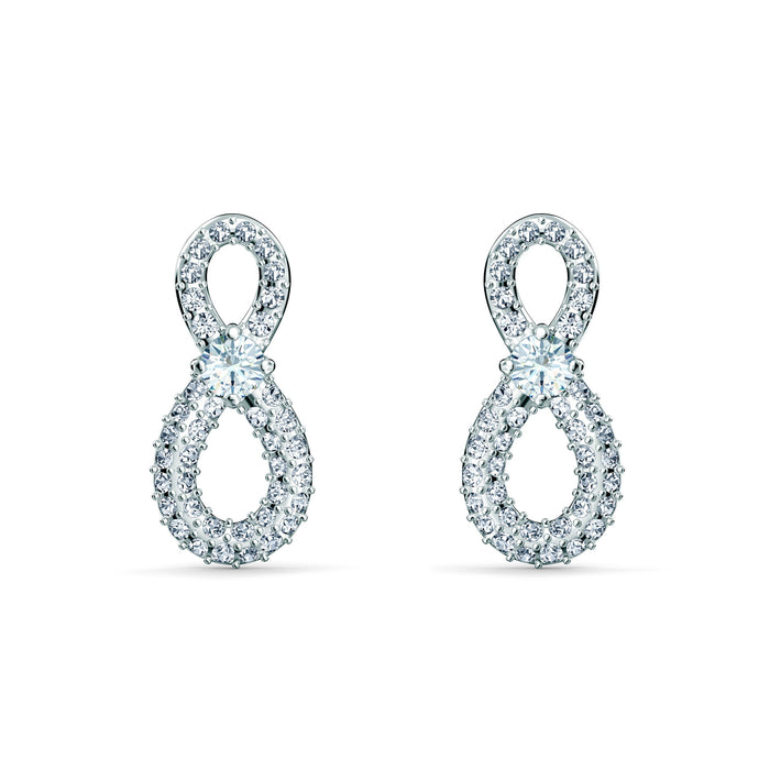 swarovski-infinity-mini-pierced-earrings-white-rhodium-plated