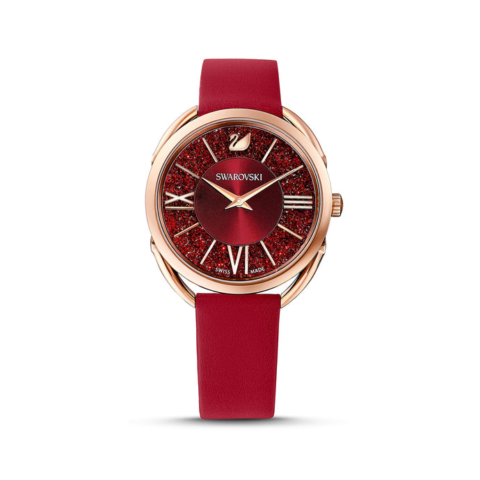 crystalline-glam-watch-leather-strap-red-rose-gold-tone-pvd