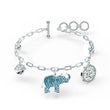 Load image into Gallery viewer, swarovski-symbolic-elephant-bracelet-light-multi-colored-rhodium-plated