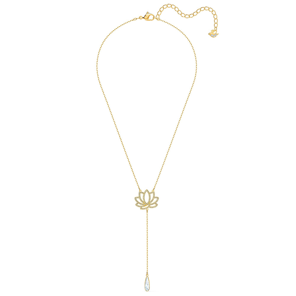 swarovski-symbolic-lotus-necklace-white-gold-tone-plated