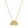 Load image into Gallery viewer, swarovski-sparkling-dance-rainbow-necklace-light-multi-colored-gold-tone-plated