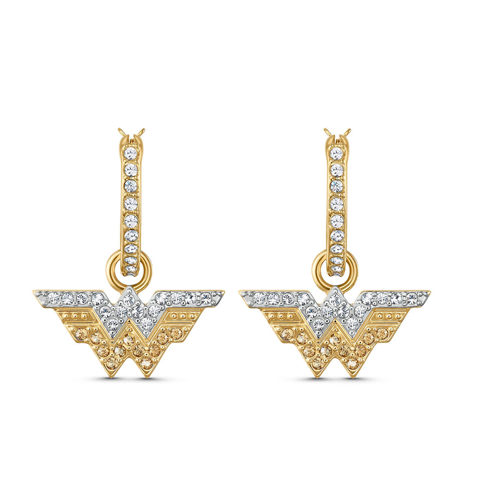 fit-wonder-woman-hoop-pierced-earrings-gold-tone-mixed-metal-finish