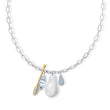 Load image into Gallery viewer, so-cool-cluster-necklace-white-mixed-metal-finish