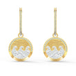 Load image into Gallery viewer, shine-wave-pierced-earrings-light-multi-colored-gold-tone-plated