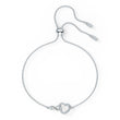 Load image into Gallery viewer, swarovski-infinity-heart-bracelet-white-rhodium-plated