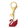 Load image into Gallery viewer, swan-bag-charm-red-gold-tone-plated