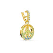 Load image into Gallery viewer, swarovski-remix-collection-peace-charm-light-multi-colored-gold-tone-plated