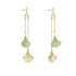 stunning-ginko-mobile-pierced-earrings-green-gold-tone-plated