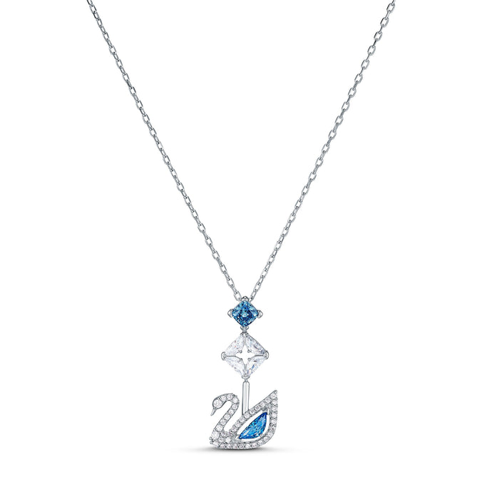dazzling-swan-necklace-blue-rhodium-plated