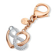 Load image into Gallery viewer, infinite-bag-charm-white-rose-gold-tone-plated