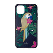 Load image into Gallery viewer, tropical-parrot-smartphone-case-with-bumper-iphone-r-11-pro-max-dark-multi-colored