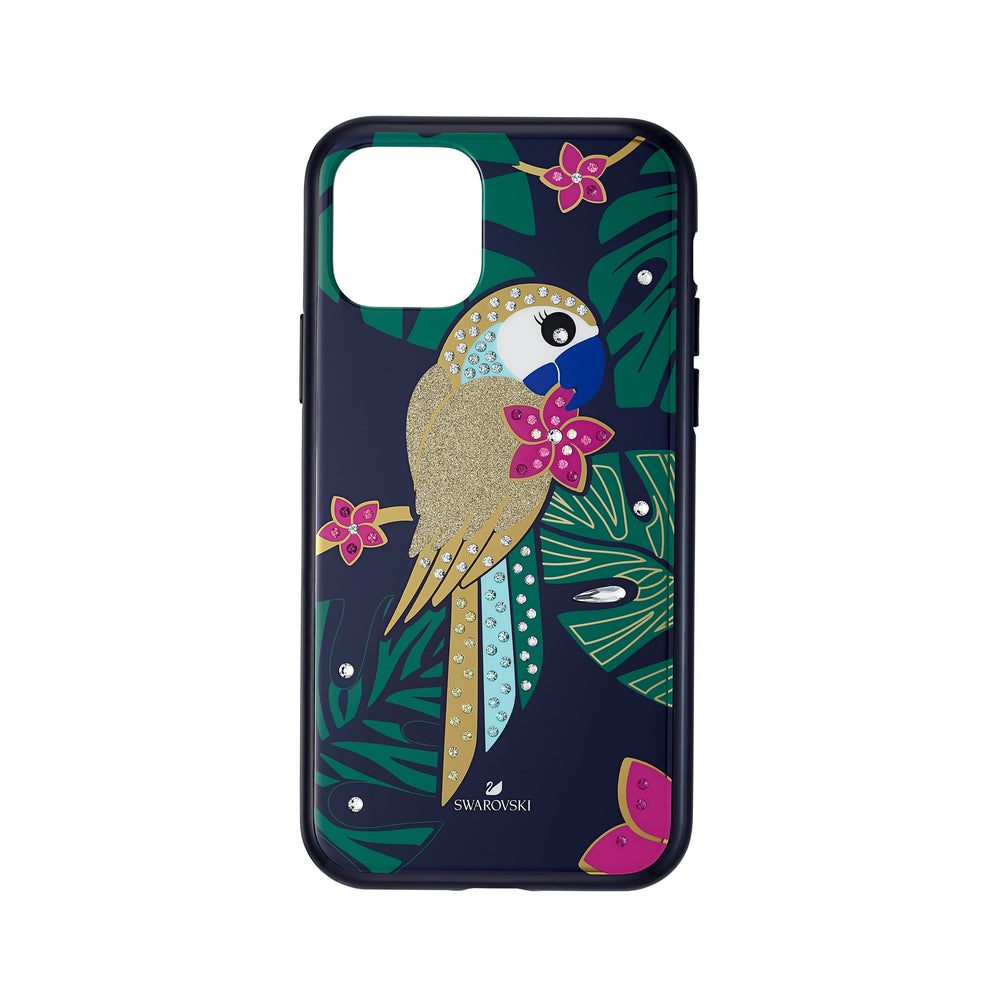 tropical-parrot-smartphone-case-with-bumper-iphone-r-11-pro-dark-multi-colored