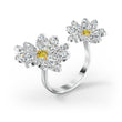 Load image into Gallery viewer, Eternal-Flower-Open-Ring-Yellow-Mixed-metal-finish