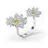 Eternal-Flower-Open-Ring-Yellow-Mixed-metal-finish