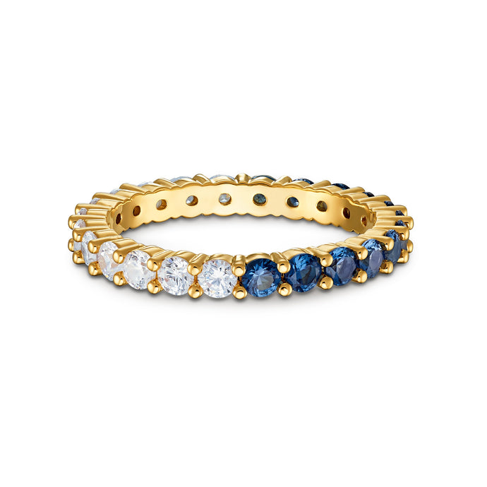 Vittore-Half-XL-Ring-Blue-Gold-tone-plated