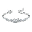Load image into Gallery viewer, dancing-swan-bracelet-white-rhodium-plated