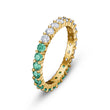 Load image into Gallery viewer, Vittore-Half-Ring-Green-Gold-tone-plated