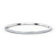 Load image into Gallery viewer, Rare Bangle, White, Rhodium plated