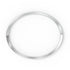 Rare Bangle, White, Rhodium plated