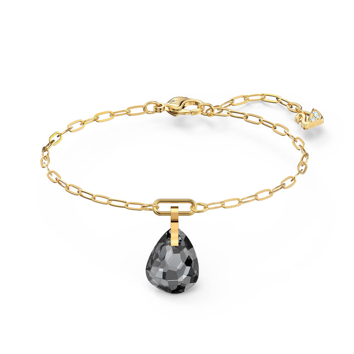 T Bar Bracelet, Grey, Gold-tone plated