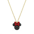 Load image into Gallery viewer, Minnie Pendant, Black, Gold-tone plated