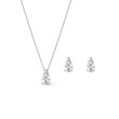 Load image into Gallery viewer, Attract  Pear Set, White, Rhodium plated