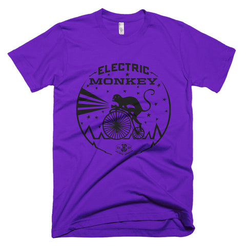 T-Shirt: Electric Monkey (Purple)