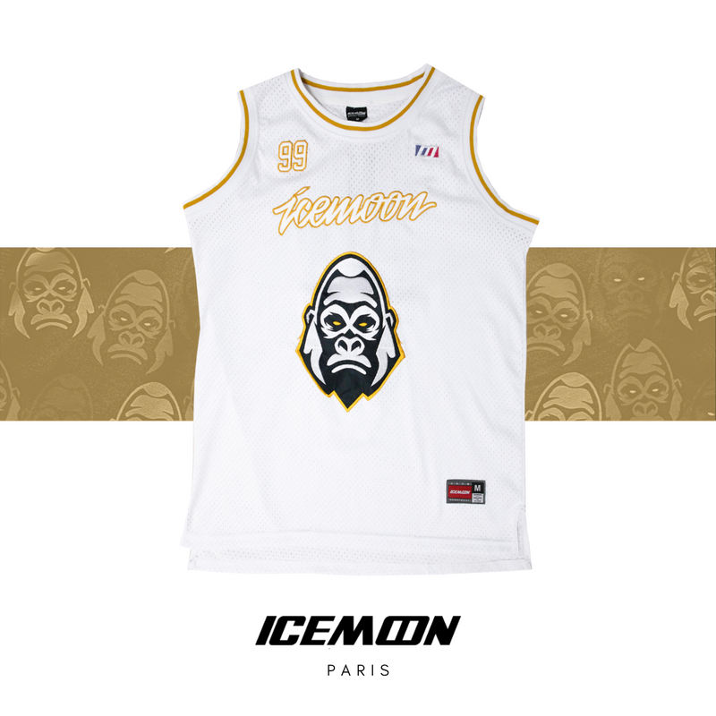 Maillot IceMoon Kong White #GoldEdition