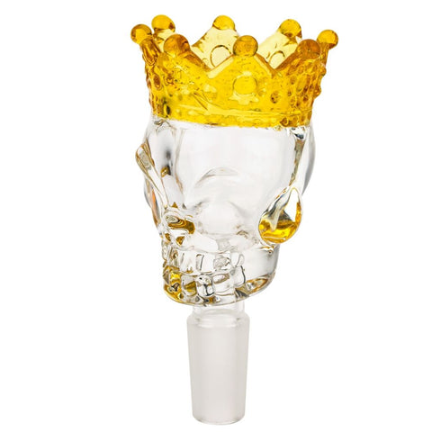 14mm Male Glass Skull Bong Bowl with Crown | For Sale | Free Shipping