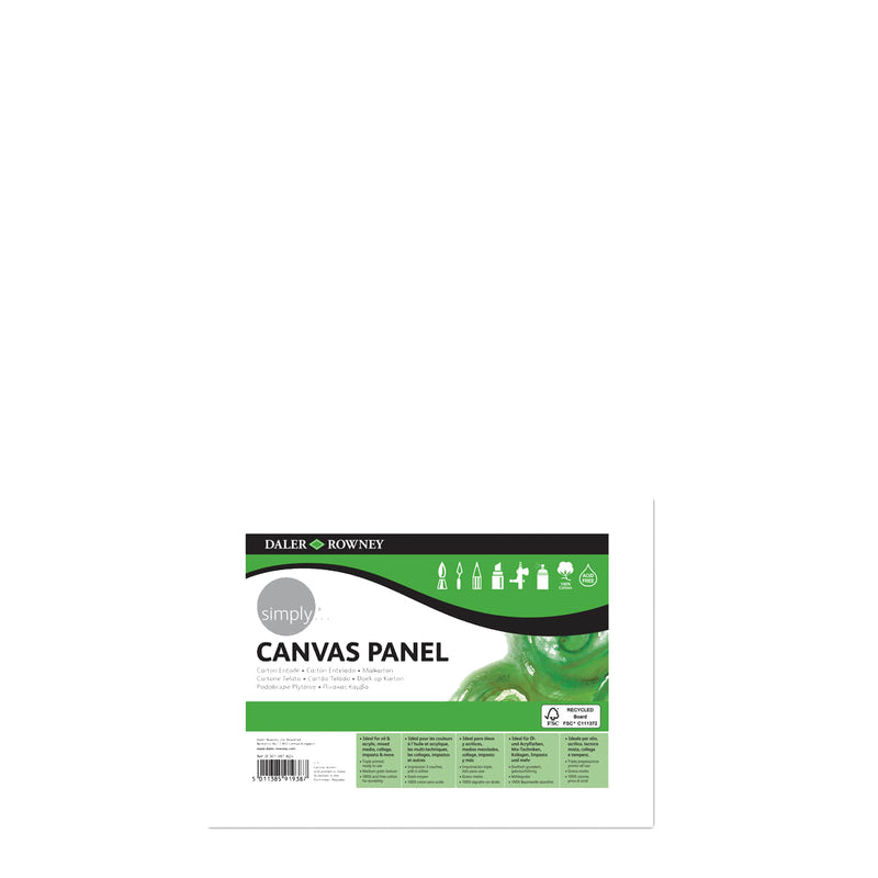 Daler-Rowney Simply Canvas Panel 10inch x 7inch Pack of 3