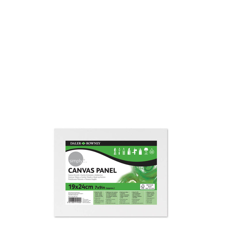 Daler-Rowney Simply Canvas Panel 9.4inch x 7inch Pack of 3