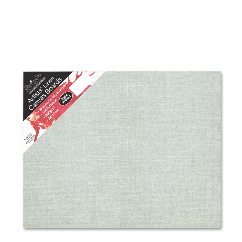 Frisk Natural Linen Canvas Board Primed 20inch x 16inch Pack of 4