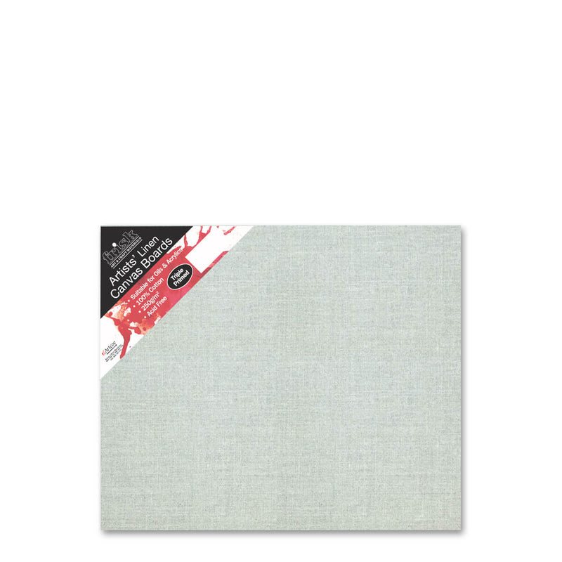 Frisk Natural Linen Canvas Board Primed 12inch x 10inch Pack of 4