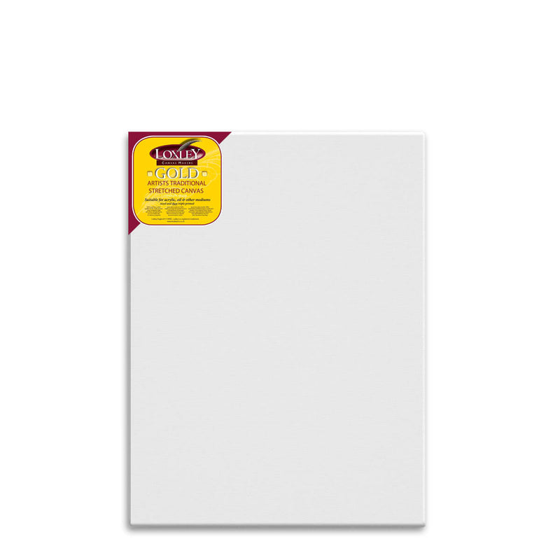 Front facing image of a Loxley Gold Standard Canvas that measures 40 by 30 inches and comes in a box of 5.