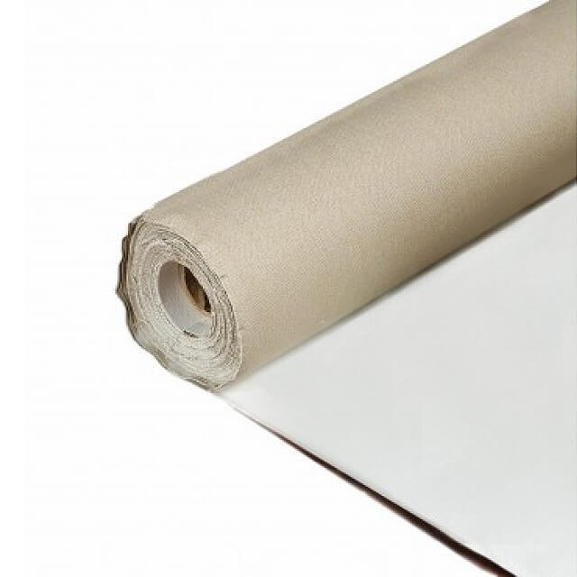 Image of a Loxley Mixed Canvas Roll that is primed and is 1 by 10 metres, weighs 10 oz and is 350gsm
