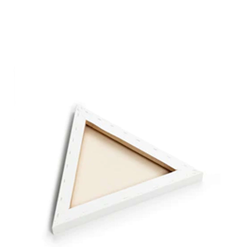 Back image of the frame of a Loxley Gold Triangular Chunky Canvas that has 18 inch sides and comes in a Box of 2