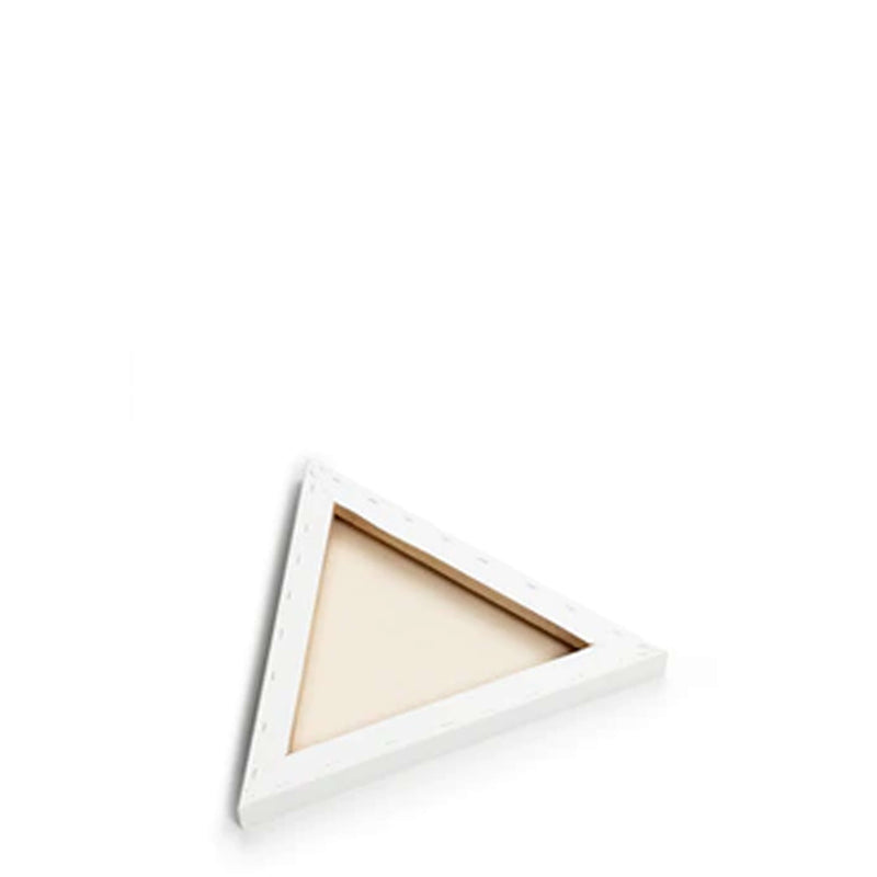 Back image of a Loxley Gold Triangular Chunky Canvas that has 12 inch sides and comes in a Box of 2