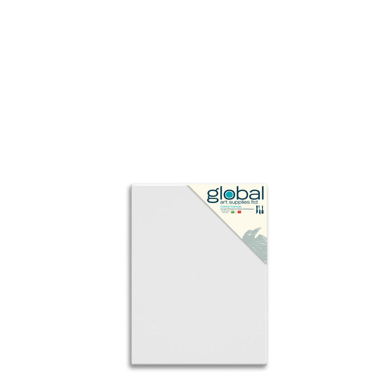 Global Art Supplies Cotton Canvas 12inch x 10inch Box of 4