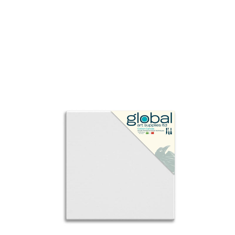 Global Art Supplies Cotton Canvas 12inch x 12inch Box of 4