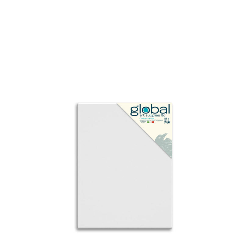 Global Art Supplies Cotton Canvas 16inch x 12inch Box of 4