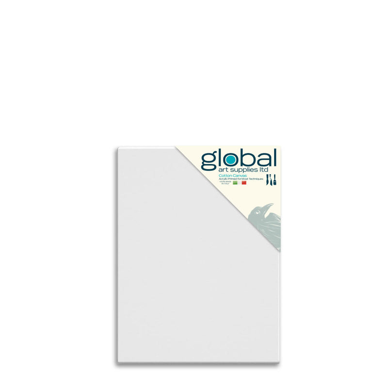 Global Art Supplies Cotton Canvas 20inch x 16inch Box of 4