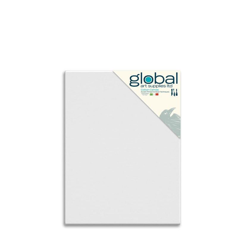 Global Art Supplies Cotton Canvas 30inch x 20inch Box of 4